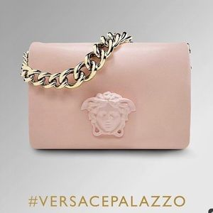 VERSACE PALAZZO SULTAN Pink Chain Clutch